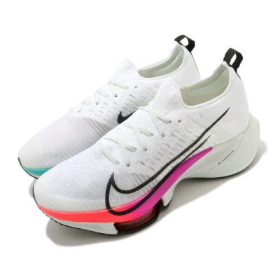 Nike 慢跑鞋 Zoom Tempo Next FK 男鞋 氣墊 舒適 襪套 避震 路跑 健身 鴛鴦 白 彩 CI9923100