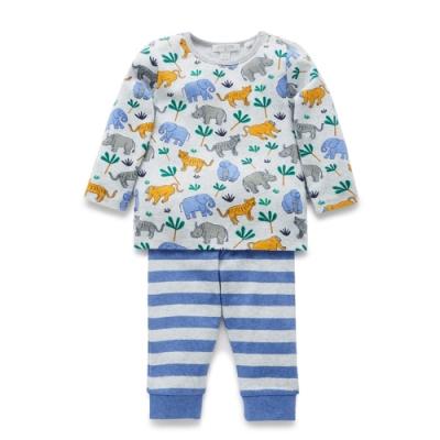 澳洲Purebaby有機棉兒童套裝-兩件式居家服