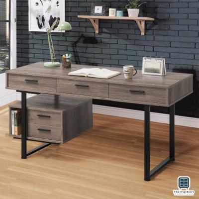 Hampton艾斯卡系列古橡色5尺書桌-150*60*76cm