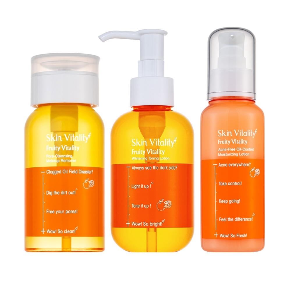 Skin Vitality 膚能量 果然淨白控油抗痘組(贈 果然控油保濕乳100mL)