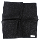 Calvin Klein CK滿版字母男士手帕/帕巾(黑色)