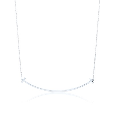 Tiffany&Co. T系列 微笑Smile 經典純銀項鍊(大)