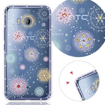 KnowStar HTC 系列 奧地利彩鑽防摔手機殼-雪球花