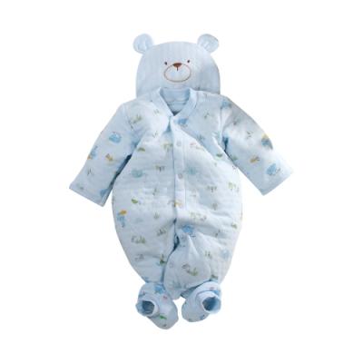 台灣製三層棉帽衣腳三件套兔衣組 b0233 魔法Baby