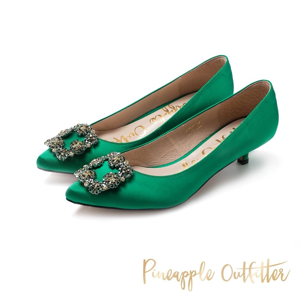 Pineapple Outfitter-PIXAR璀璨名媛方鑽釦跟鞋-特殊紋綠色