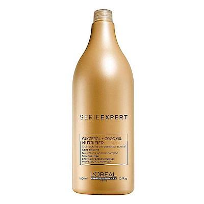 LOREAL萊雅 絲漾博滋養洗髮乳1500ml(附壓頭)-快速到貨