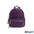 Kiiwi O! 質感防潑尼龍雙層後背包 JANET 紫