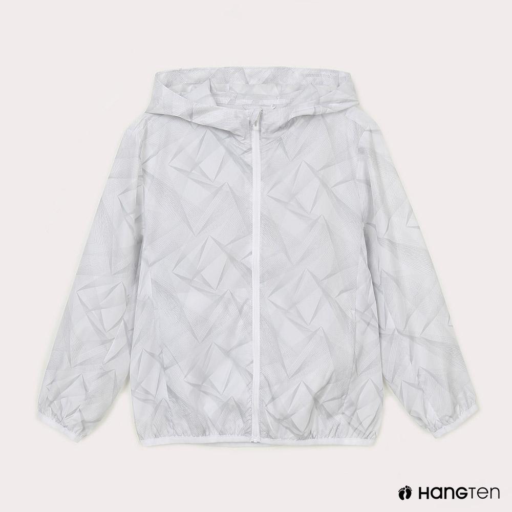Hang Ten-中性童-恆溫多功能-防輕潑水自收防風外套-白色