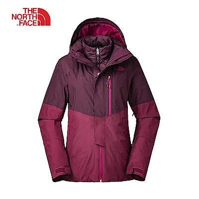 The North Face北面女款紅色防水保暖外套|3KQX5UW