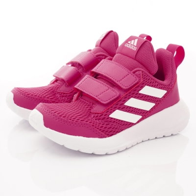 adidas童鞋 透氣輕量彈力款 SI895桃紅(中小童段)