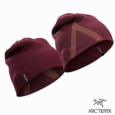 Arcteryx Crest 保暖針織毛帽 緋紅/火岩紅