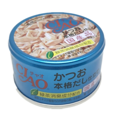 日本 CIAO 旨定罐 A-89 鰹魚&柴魚高湯 85g