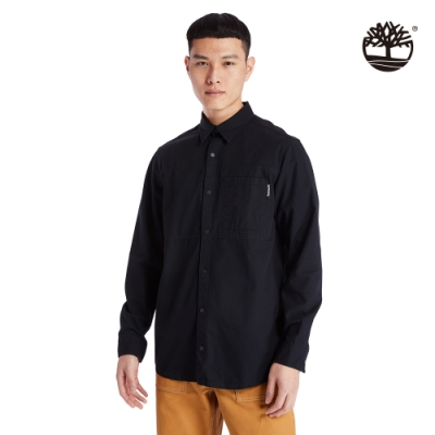 Timberland 男款黑色工裝棉質防撕裂襯衫外套 A2AC4