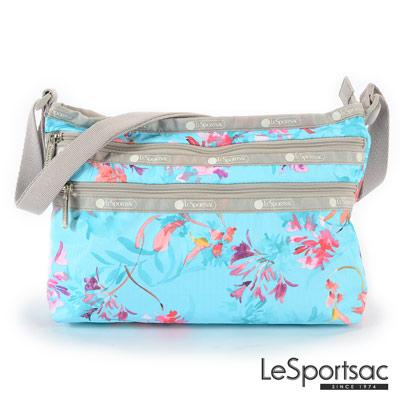 LeSportsac - Standard橫式三層拉鍊斜背包 (夏日花卉)