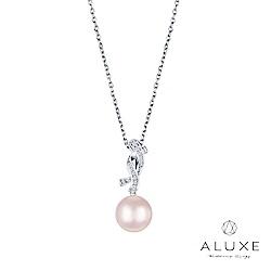 ALUXE 亞立詩 寵愛系列Beloved 18K金鑽石AKOYA珍珠項鍊