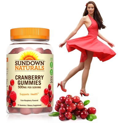 Sundown日落恩賜 50倍濃縮蔓越莓軟糖(75粒/瓶)_效期至2020/4/30