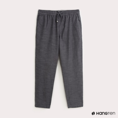 Hang Ten-男裝-純色平織休閒長褲-灰