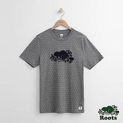 Roots 男裝-米拉米契短袖T恤-灰色