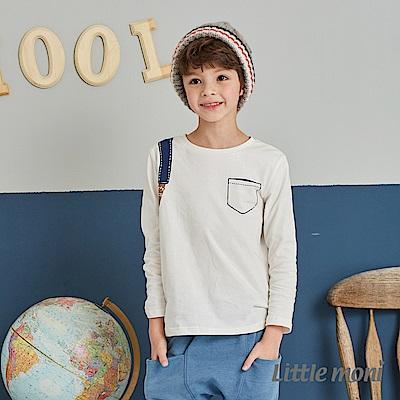 Little moni 後背包印圖上衣 (2色可選)