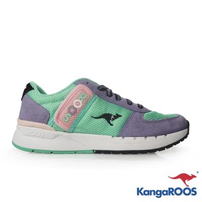KangaROOS 美國袋鼠鞋 女 COMBAT 經典口袋鞋(藍紫)
