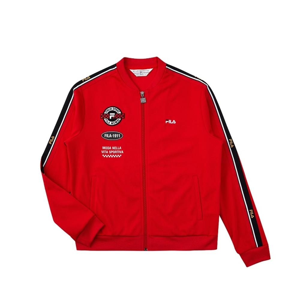 FILA 女吸濕排汗外套-紅色 5JKV-1722-RD