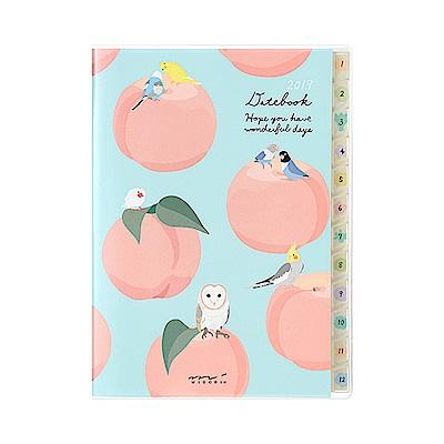 MIDORI POCKET DIARY 2019手帳(月雙週)A6-小鳥
