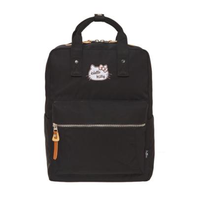【Hello Kitty】凱蒂學院-方型後背包-黑 FPKT0F001BK
