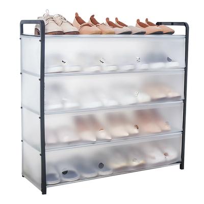 【judy家居生活用品館】防塵多層組合鞋架 5層長款 超值2入組