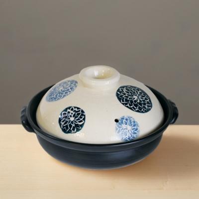 日本TAIKI太樹萬古燒 - 輕量土鍋8號 - 藍染(1.6L)