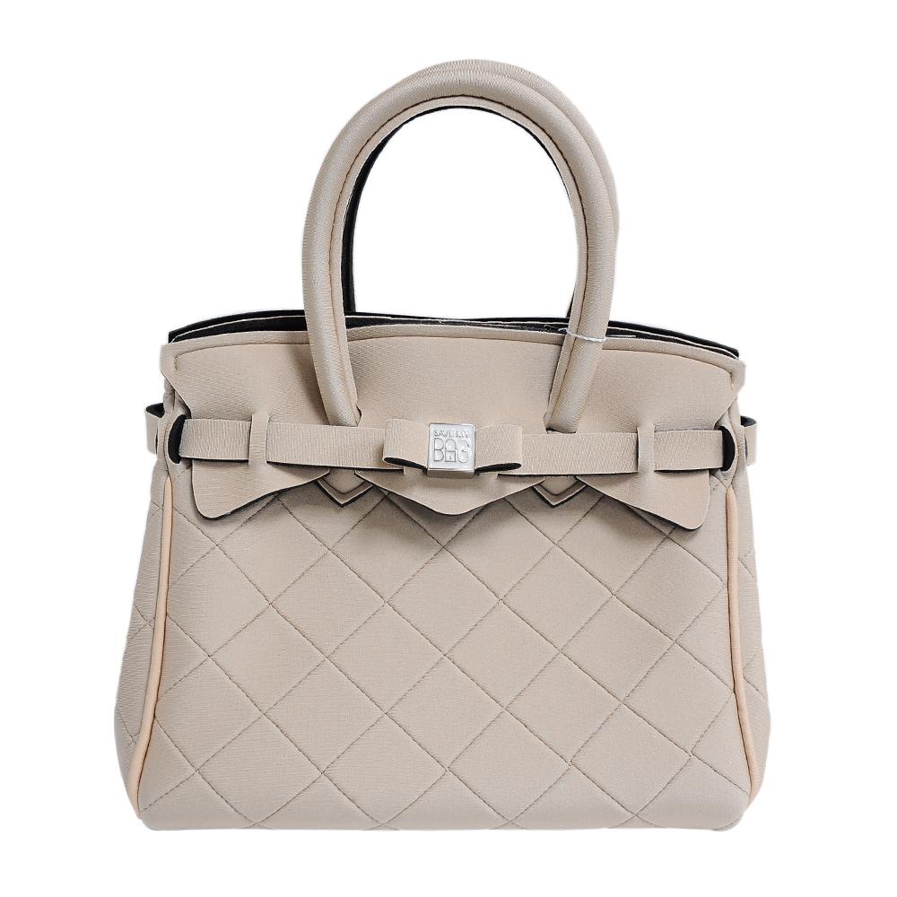 SAVE MY BAG 義大利品牌 PETITE系列菱格紋 小麥色超輕量手提托特包 @ Y!購物