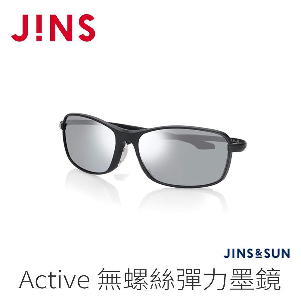 JINS&SUN Sports 無螺絲彈力運動墨鏡(AMRF21S134)經典黑