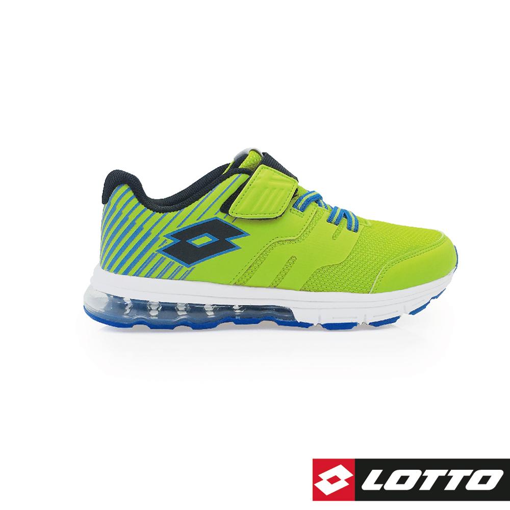 LOTTO 義大利 童 STRETCH 氣墊跑鞋 (螢光綠)