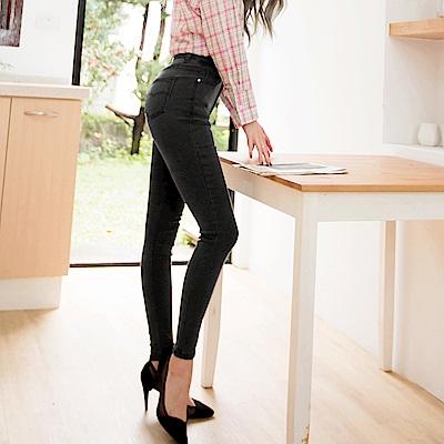 3D立體塑型視覺顯瘦經典牛仔窄管褲-OB嚴選