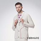 L'ARMURE 男裝 男士彈性西裝外套 (白沙色)