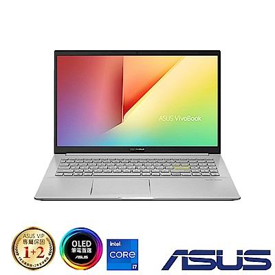 ASUS S513EQ 15吋筆電 (i7-1165G7/MX350/8G+8G/512G/OLED/VivoBook S15/閃電銀)