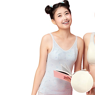 嬪婷-學生一階段M-3L長背心(柔和黃)天使寶貝棉