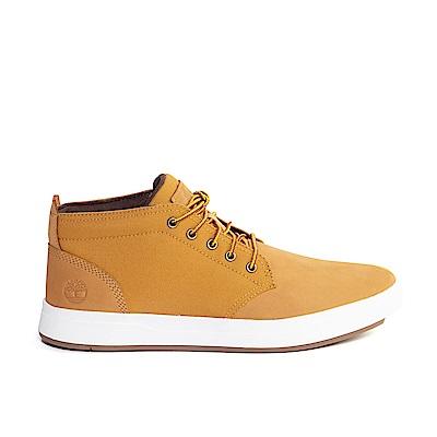 Timberland 男款小麥黃正絨面皮革真休閒鞋