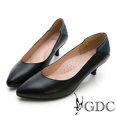 GDC-基本素面百搭上班小姐姐低跟包鞋-黑色