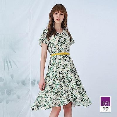 ILEY伊蕾 春漾花邊領雪紡洋裝(白)