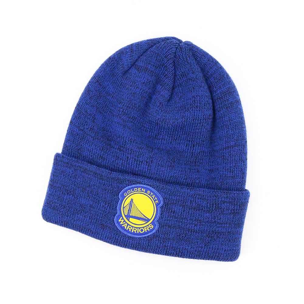 NIKE NBA 反折針織帽 勇士隊 藍色