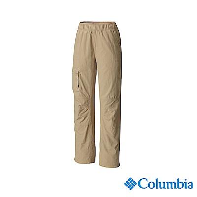 Columbia 哥倫比亞 兒童-UPF30快排長褲-棕褐 UAY14400TN