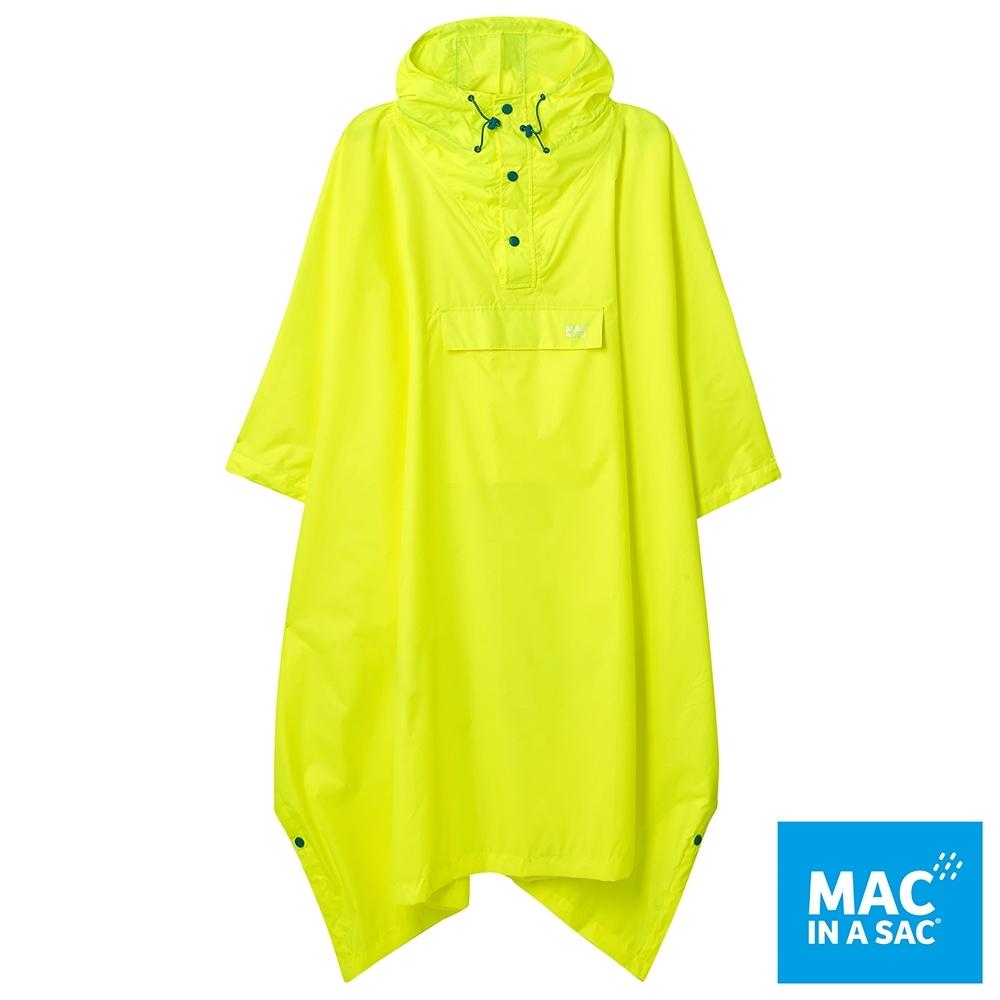 【MAC IN A SAC】中性款輕巧袋著走快穿成人斗篷式雨衣MNS041螢光黃