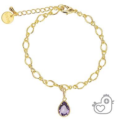 彩糖貝貝 紫色水滴型手鍊 親子& 閨蜜 繽紛寶石系列