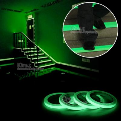 螢光膠帶貼紙/夜光膠帶/反光發光條 超值900cm樓梯車身安全警示 kiret