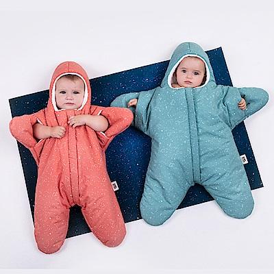 【小海星標準版-寶石綠 】鯊魚咬一口BabyBites純棉嬰幼兒睡袋