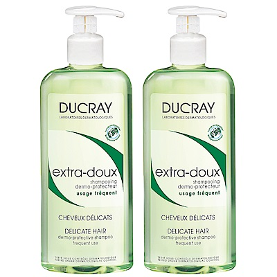 DUCRAY護蕾 溫和保濕洗髮精基礎型400ml(二入組)