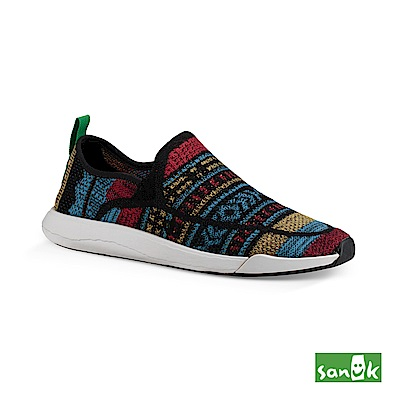 SANUK 編織圖騰拉環設計休閒鞋-中性款(彩色)
