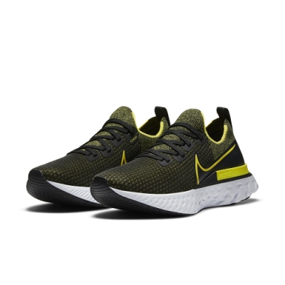 NIKE  慢跑鞋 訓練 健身 運動鞋 男鞋 黑黃 CD4371013 REACT INFINITY RUN FK
