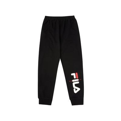 FILA KIDS 童束口長褲-黑色 1PNV-8904-BK