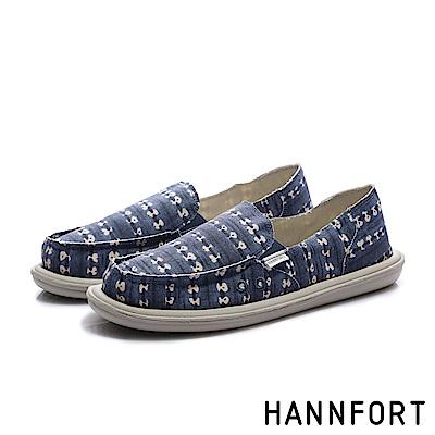 HANNFORT COZY 渲染樣文青懶人鞋-女-渲染藍